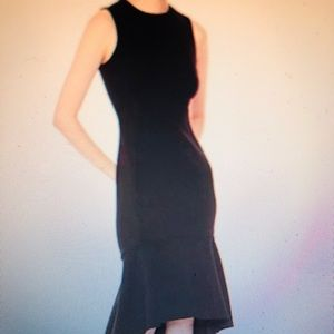 Calvin Klein Black High Low Hem Dress